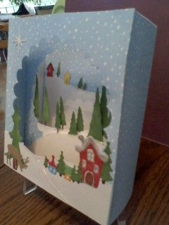 Diorama card with MB dies.