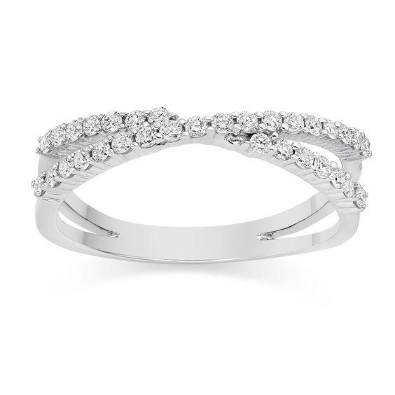I love this Crossover Diamond Wedding Ring on Vashi.com. #vashi