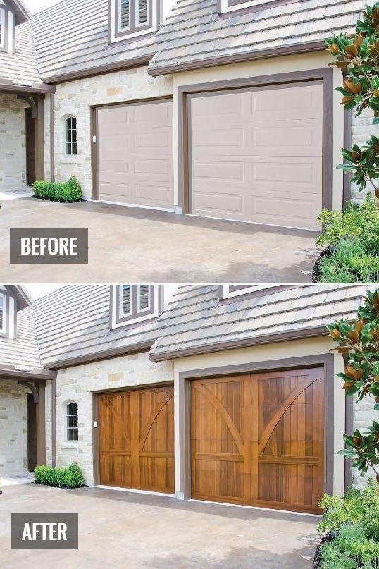 Wood Garage Overhead Door In 2020 Wood Garage Doors Garage Doors Wooden Garage Doors