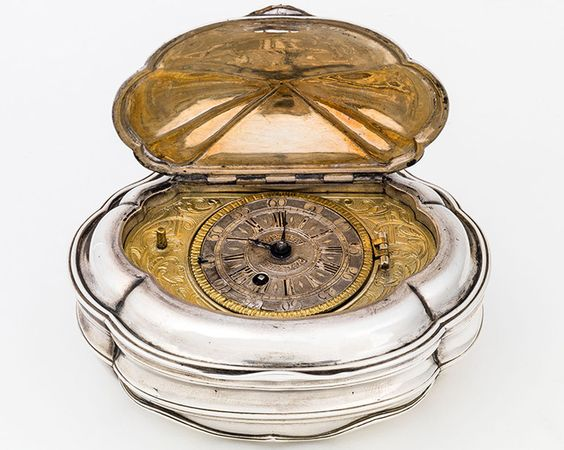 Snuffbox with built-in watch, Benedikt Fürstenfelder, Johann Georg Scheppich (attrib.), around 1736/1737