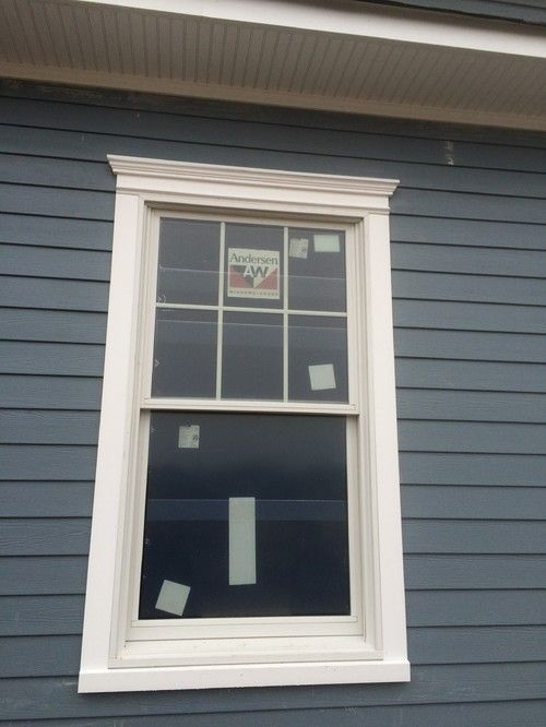 Azek Historic Sill Installed With Andersen 400 Tilt Wash Windows Note Also The Way The 5 4 Trim Is Flush Window Trim Exterior House Exterior Windows Exterior