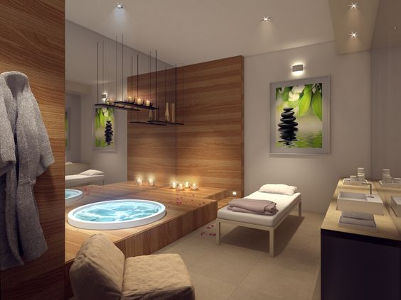 Spa e massagem decora es e casas pinterest spas for Decoraciones para centro de estetica