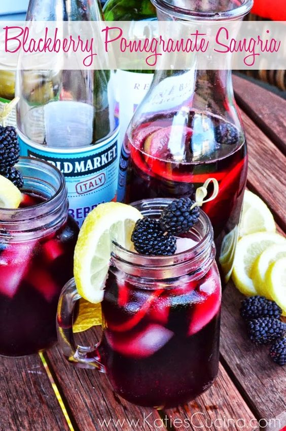 Summer Entertaining with World Market and a recipe for 4-Ingredient Blackberry Pomegranate Sangria via KatiesCucina.com #SummerFun @Cost Plus World Market