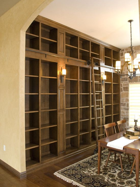 Bookshelves built ins and ladder on pinterest - What did the wall say to the bookcase ...