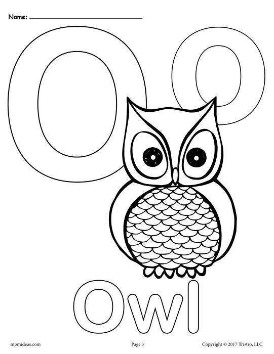 Letter O Alphabet Coloring Pages 3 Free Printable Versions