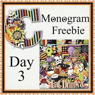 Scrapbooking TammyTags -- TT- Designer - Crazy For Monograms,  TT - Item - Alphabet, TT - Theme - Halloween, TT - Style - Monogram