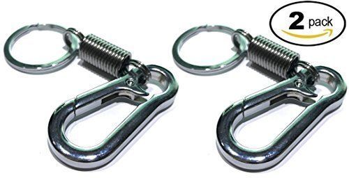 Carabiner Keychain Ring Keyring Retro Spring Key Chain Holder 2 Pack