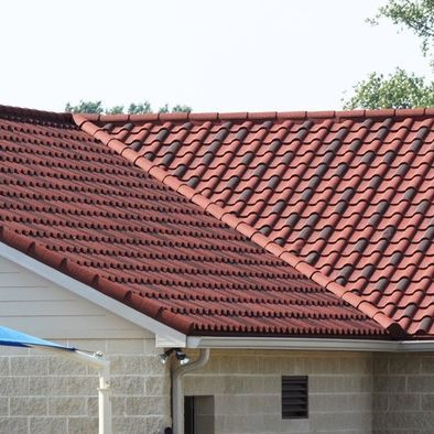 Decra villa tile i think this color is rustic clay our for Metal roof that looks like spanish tile