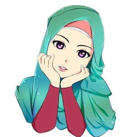 Islamic Anime Kartun Hijab Gambar Animasi Kartun Kartun