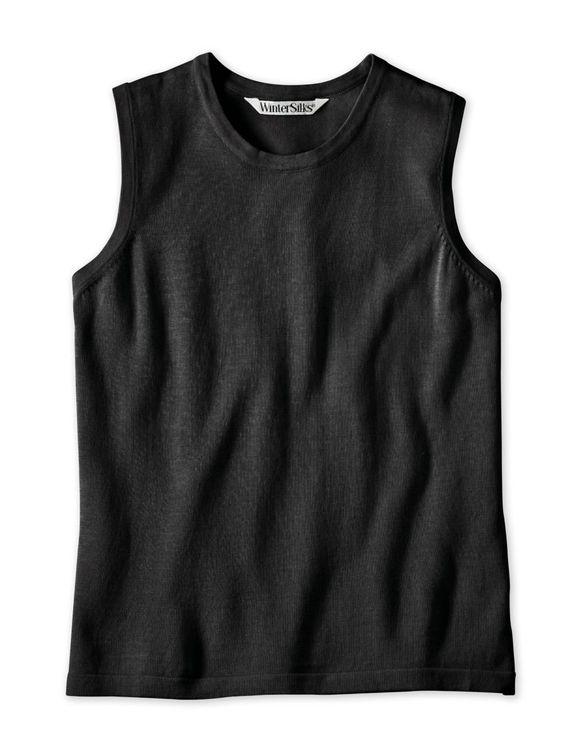 WinterSilks Women's Fine Gauge Silk Cotton Sweater Shell at Amazon Women's Clothing store: