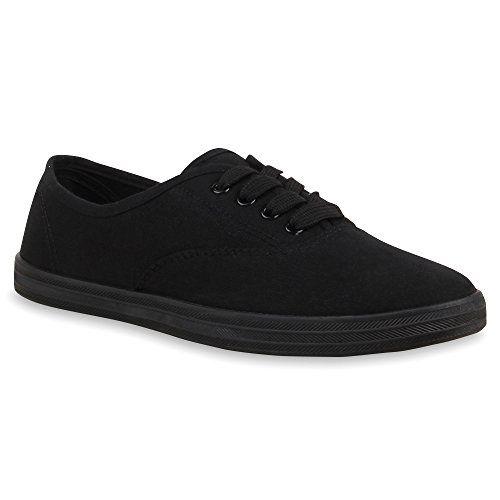 Sportliche Damen Sneakers Basic Freizeit Schuhe Schnürer – NEU