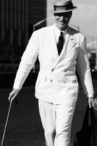 Stylish summertime vintage white linen suit. #vintage #menswear #guys #suits