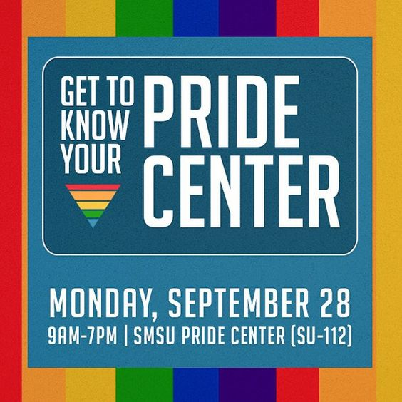Visit the #CSUSBSMSU and Get To Know Your Pride Center today from 9am-7pm. There will be prizes!!! #CSUSB #SMSUSocialButterfly