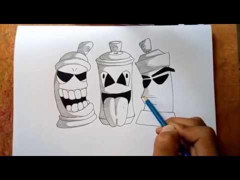 Membuat Graffiti Karakter Spray Pilox Mudah Di Tiru Youtube Graffiti Gambar Grafit Gambar