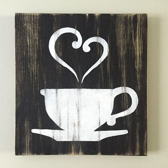 Kitchen decor coffee decor tea decor coffee cup for Kitchen themed wall art