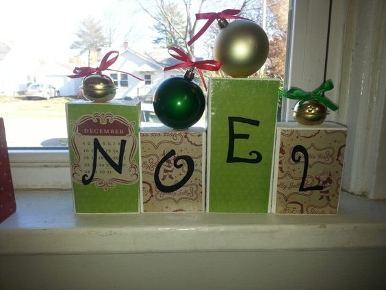 Wooden christmas sign.