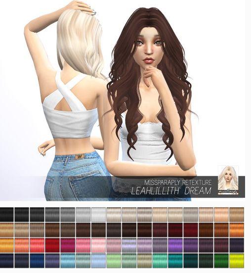 Miss Paraply: LeahLillith Dream hair retextured  - Sims 4 Hairs - http://sims4hairs.com/miss-paraply-leahlillith-dream-hair-retextured/