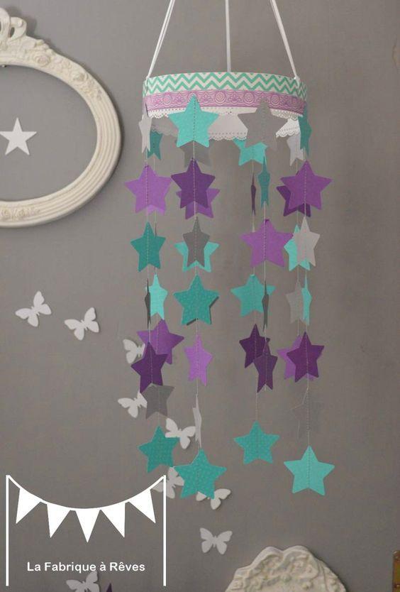 Mobile toiles turquoise violet mauve gris d coration for Decoration mauve et gris