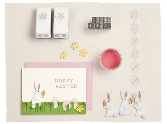 Hop into Paper Source for all the products needed to make a Happy Easter Card!