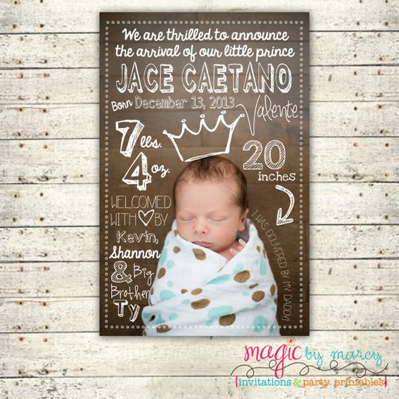 how to make digital birth announcements