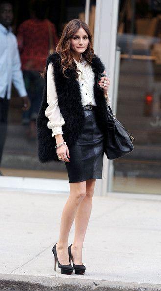 black fur vest: