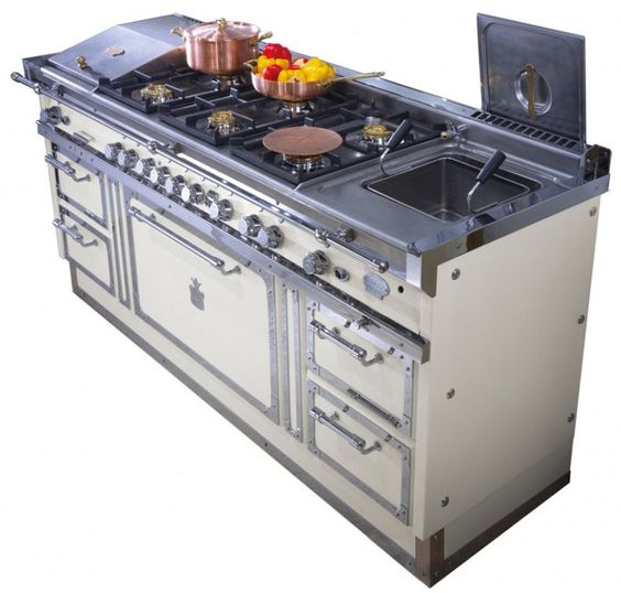 dual fuel gas/electric traditional range cooker Blocco di cottura OG188 Officine Gullo