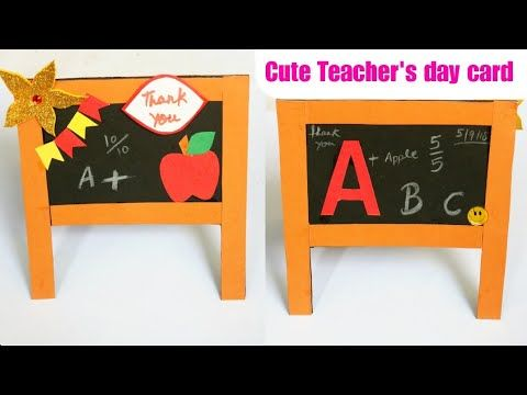 Youtube Cute Teacher S Day Card Handmade Blackboard Card Making Paper Craft For Kids Greeting Card F Teachers Day Card Teacher Cards Cardmaking And Papercraft