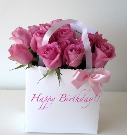 happy birthday pink roses - Google Search