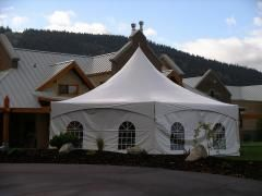 Hexagon Marquee Tents, with or without walls. For a quote head to our website at www.westminsterparty.com
