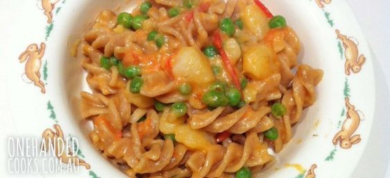 Potato and Ham Pasta - One Handed Cooks