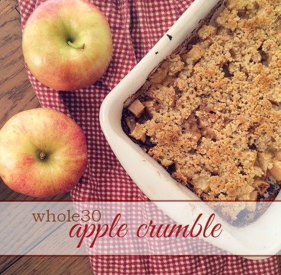 Creative Carmella: Whole30 Apple Crumble ~ And a life after Whole30 update
