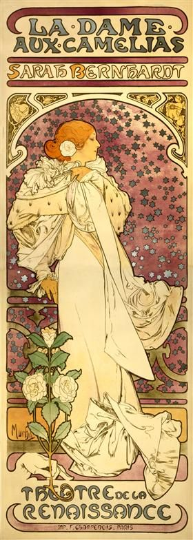 The Lady of the Camellias - Alphonse Mucha: