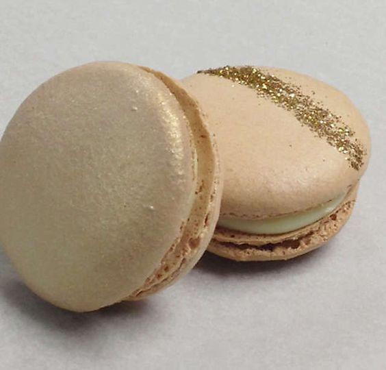 Custom Glitter Champagne Macarons