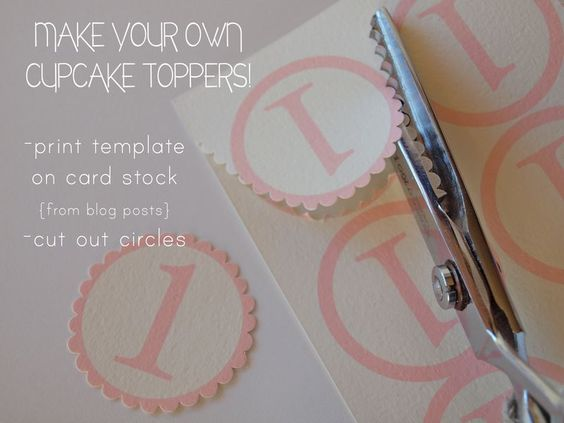 this blog has lots of free printables including cupcake toppers and diy party hats with templates.