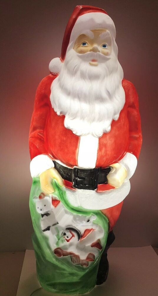 P Lease See Pictures 46 Tall X 15 Wide X 15 Front To Back Vintage Christmas Outdoor Christmas Decorations Retro Christmas