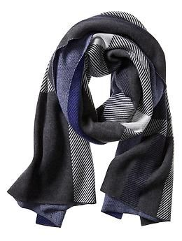 Plaid Jacquard Blanket Scarf | Banana Republic