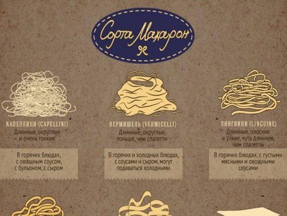 Макароны: сорта и способы приготовления. Инфографика | Продукты и напитки | Кухня | Аргументы и Факты