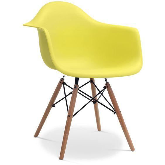 chaise daw charles eames - bakélite mat jaune 69euros | enfants ... - Chaise Daw Charles Eames