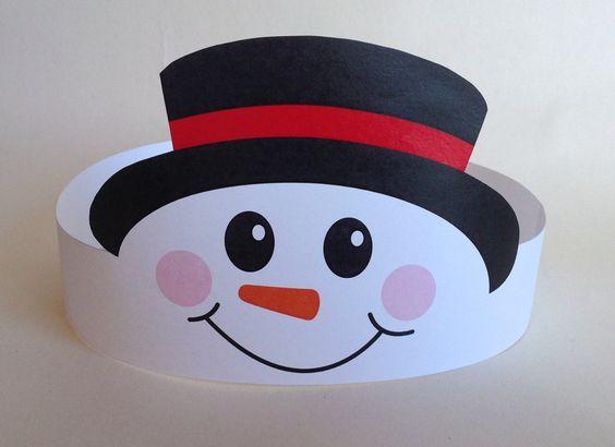 Snowman Paper Crown Printable by PutACrownOnIt on Etsy