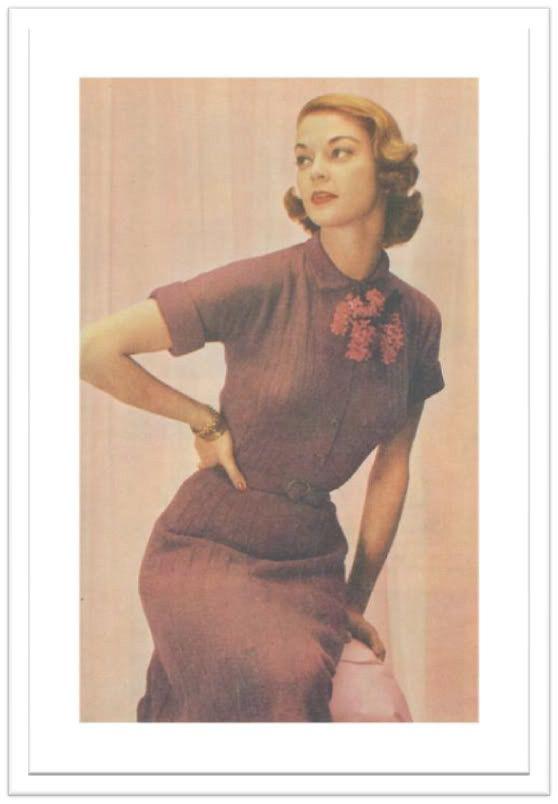 SHIRTWAIST DRESS KNITTING PATTERN #2445