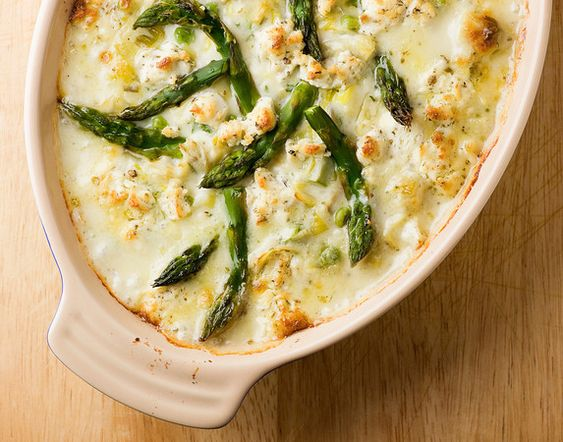 {Baked Goat Cheese with Spring Vegetables}