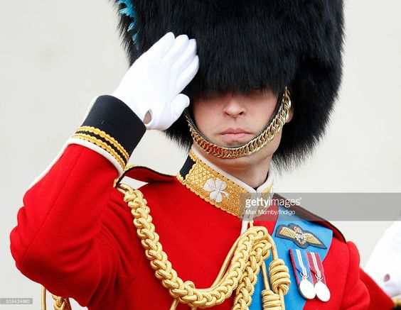 Prince William, Duke of Cambridge salutes as he attends Trooping the Colour, this year marking the Queen's 90th birthday on June 11, 2016 in London, England. The ceremony is Queen Elizabeth II's annual birthday parade and dates back to the time of Charles II in the 17th Century when the Colours of a regiment were used as a rallying point in battle.