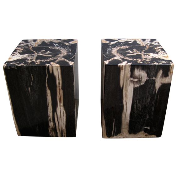 pair of petrified wood side tables stools buy zina solidwood side table