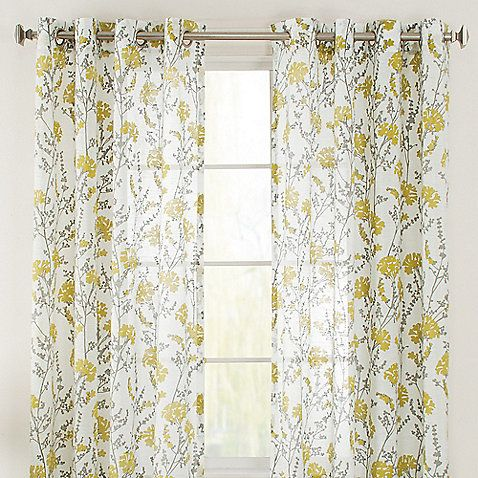Curtains Ideas curtain panels on sale : Bethany Grommet 84-Inch Window Curtain Panel in Citron | New House ...