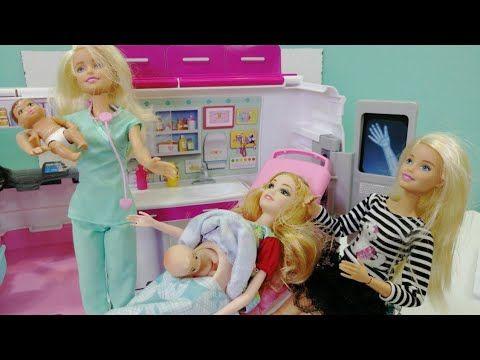 باربي بيلا وفلة وغرفة الأشعة ومفاجأة كبيرة داخل المستشفى باربي واختها في المستشفى حكايات باربي Youtube