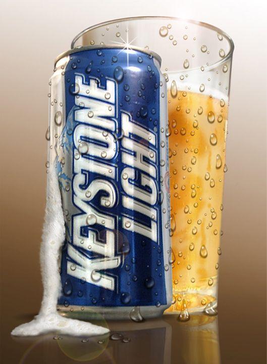 Keystone Beer Ad, by Dennis Franzen