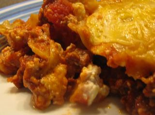 Best beef crock pot lasagna, 15 minute prep, 4 hours in the crock pot.  Easy!