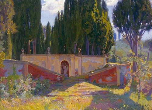 Jardí de la Villa Falconieri Baldomer Gili i Roig, 1900 Oli sobre tela 98 x 130,5 cm MAMLL - 0206: