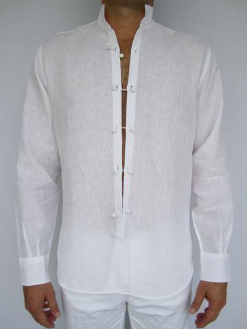 White Cotton Mens Shirts