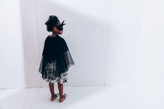 Noe & Zoe. Dancing dress. £56 #dress #blackandwhite #cape #childrensclothing